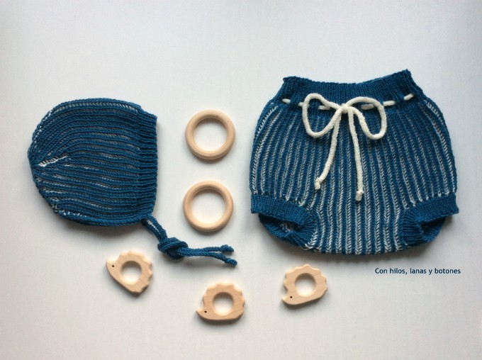 Con hilos, lanas y botones: Winter Duo Baby Bloomers and Bonnet