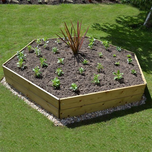 Hexagon Timber Raised Bed