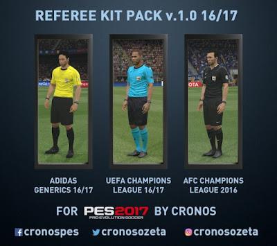 PES 2017 Referee Kits v1.0 Adidas Generics 16-17 by cRoNoS