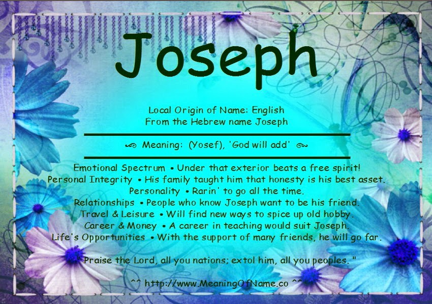 58 MEANING OF BABY NAMES JOSEPH, MEANING JOSEPH NAMES OF BABY