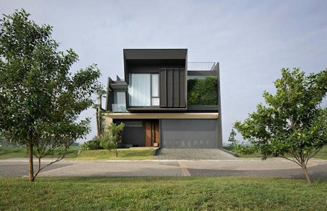 Modern Minimalist 2-Story House