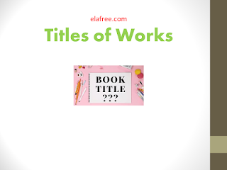Titles of Works