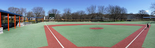 wheelchair accessible baseball field at Miracle Field in Riverside Park in Sioux City Iowa