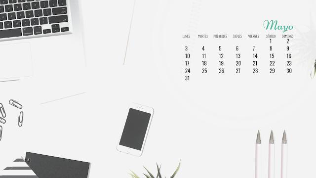 calendario, mensual, fondo pantalla, descargar, gratis, horizontal, frases