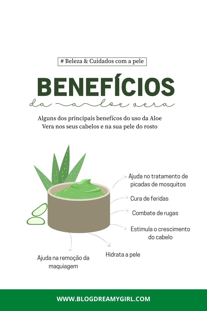 Benefícios da Aloe Vera para a sua pele, corpo e infecções