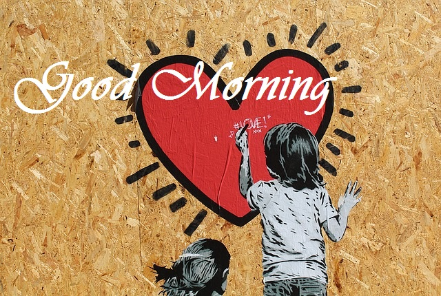 good morning heart painting
