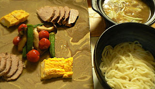 煮豚とカレーつけ麺セット