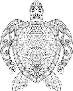 דף צביעה גאומטרי מנדלה חיות