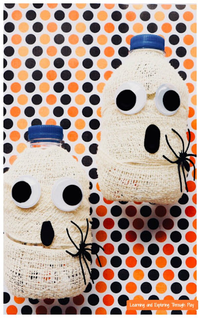 Bottle Ghost Craft Halloween Crafts for Preschoolers