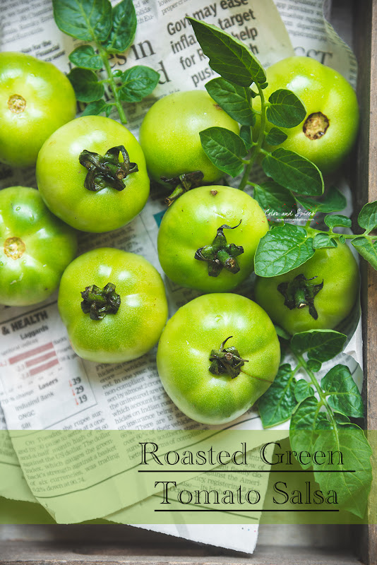 green tomatoes, food photography