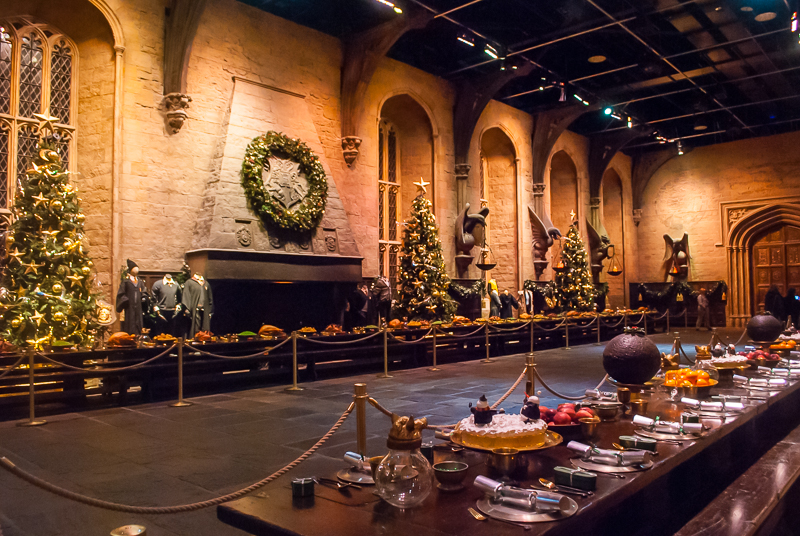 Grand hall in Harry Potter Studios, Engalnd