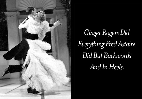 Crumbs Of Comfort She Did Everything Fred Astaire Did