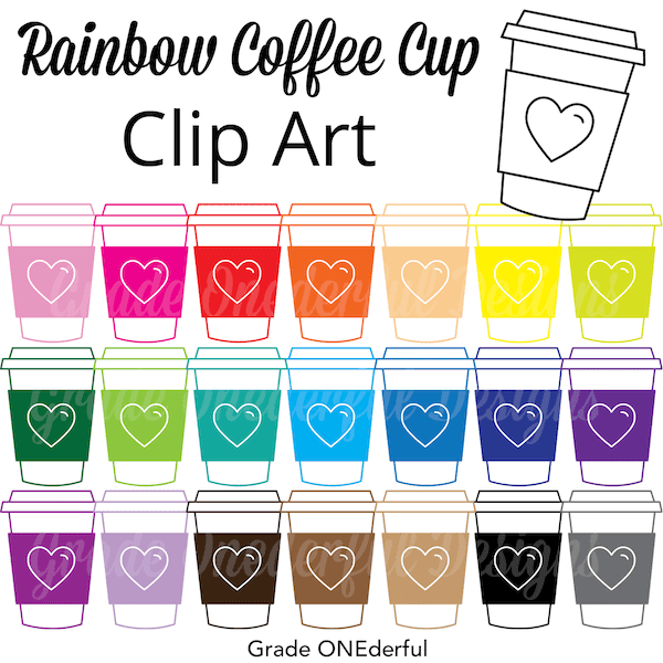 Coffee Cup Clip Art in ALL the Colours!