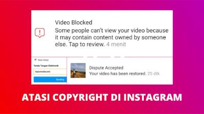 Cara Mengatasi Copyright Di Instagram