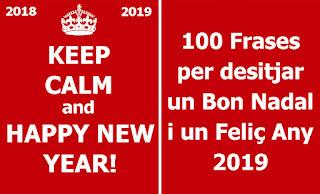 100 frases Bon Nadal i Any 2019