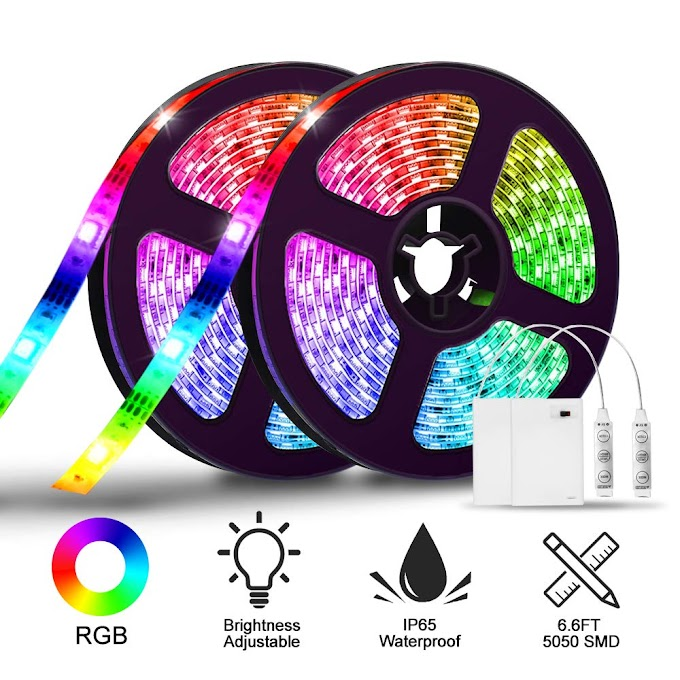 AMAZON - 50% off LED Strip Lights Battery Operated
