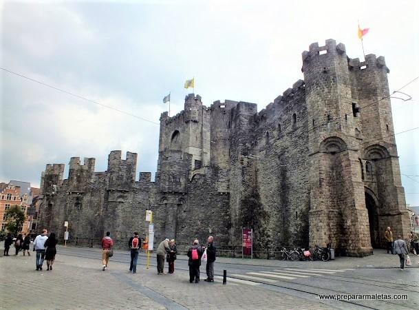 Visitar el castillo de Gante