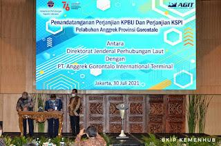 Ditandatangani Perjanjian Kerjasama Pembangunan Pelabuhan Anggrek di Gorontalo Melalui Skema Pendanaan Kreatif KPBU