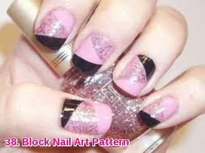 Block Nail Art Pattern