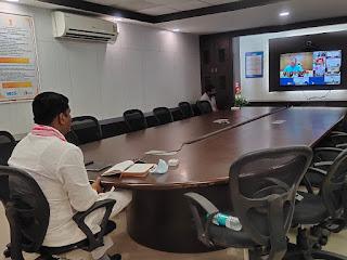 मंत्री श्री रामकिशोर नानो कावरे बीसी द्वारा मंत्री परिषद की बैठक में हुए शामिल