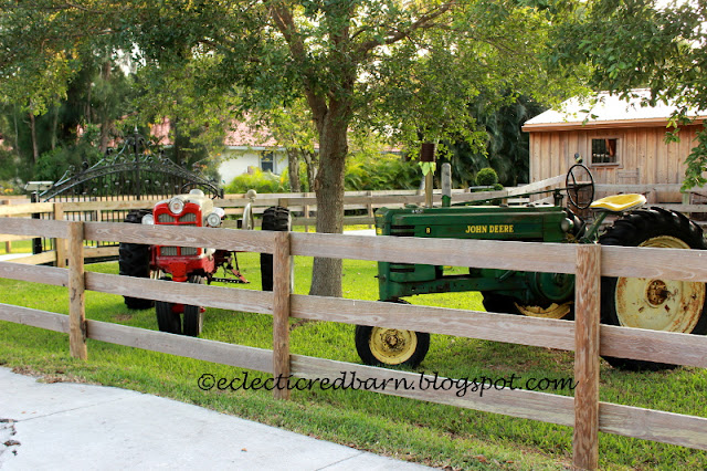 Eclectic Red Barn: Vintage John Deer and Ford Tractor