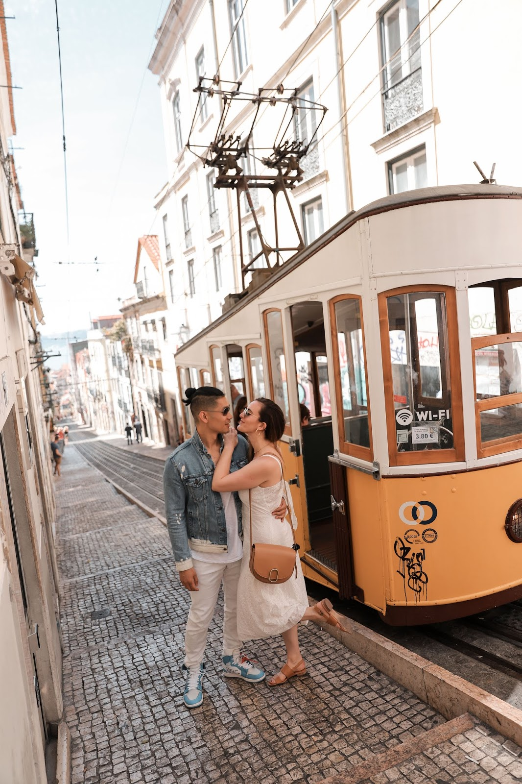Leo Chan and Alicia Mara at Funicular da Bica Tram | Tips and Tricks