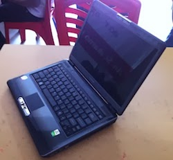 jual laptop 2nd toshiba portage m800