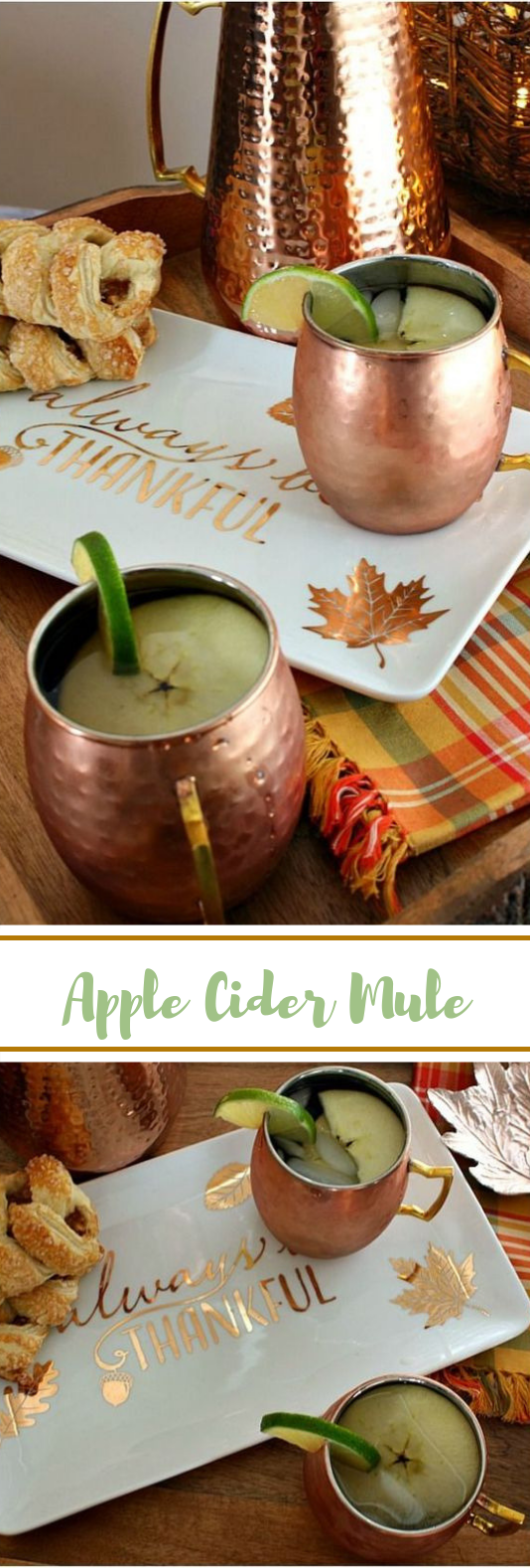 Apple Cider Moscow Mule #fall #drinks