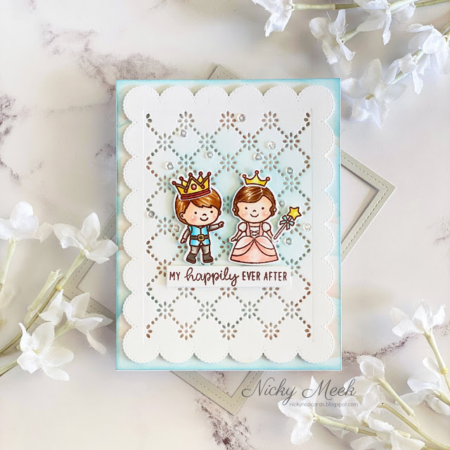 Sunny Studio Stamps: Enchanted Frilly Frame Dies Fairy tale Themed Everyday Cards by Nicky Meek