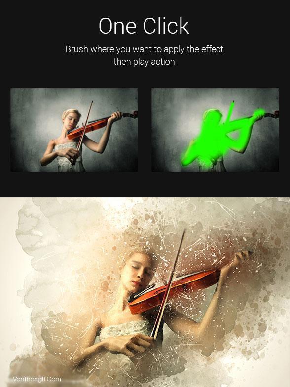 Action làm cũ ảnh và màu nước cho Photoshop - Văn Thắng Blog