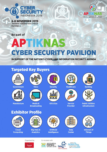 Gabung PAVILION APTIKNAS di Cyber Security Indonesia 6-8 Nov 2019