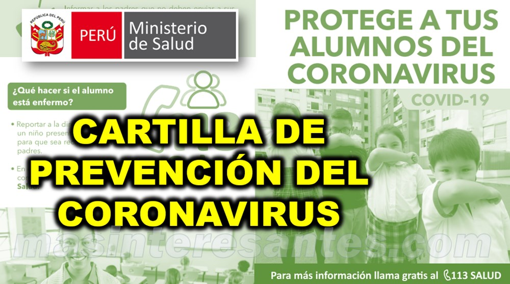 Cartilla de prevención del Coronavirus MINSA