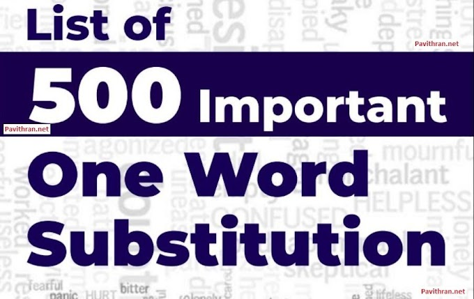 List of 500 Important One Word Substitution for SSC, Banking and Other Competitive Exams