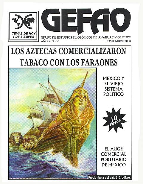 Revista GEFAO Los Aztecas comercializaban tabaco con los Faraones