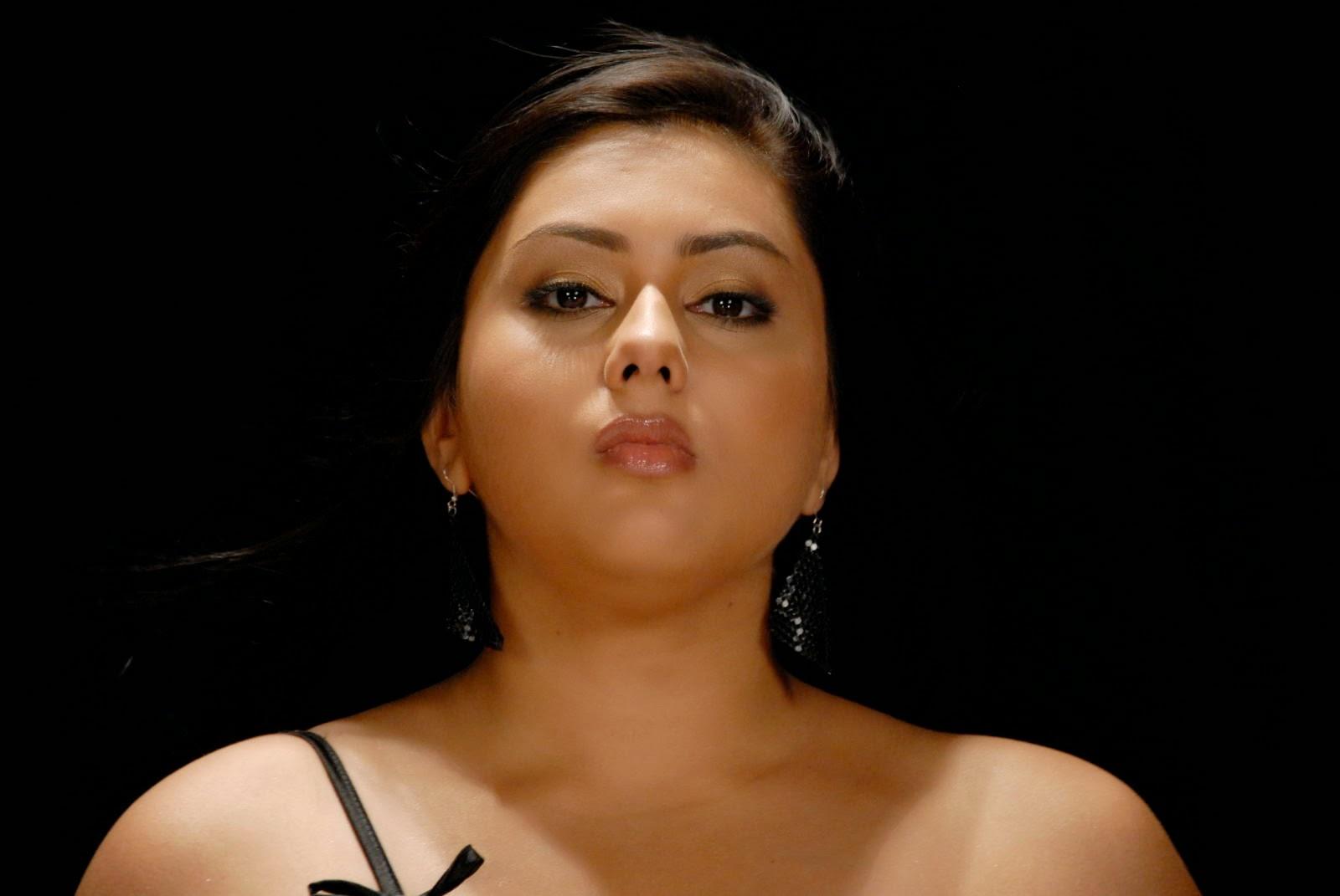 Namitha Hot Black Dress Song Making Pictures  Namitha -5898