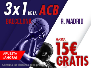 suertia promocion 15 euros acb Barcelona vs Real Madrid 25 noviembre