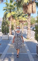 aurinkoinen kävelyhetki