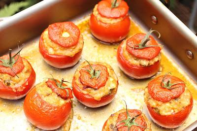 tomates farcies feta et boulghour
