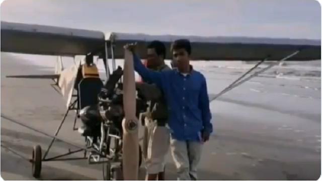 Bikin Kagum, Uji Coba Pesawat Terbang Buatan Chaerul Pria Lulusan SD Asal Sul-Sel