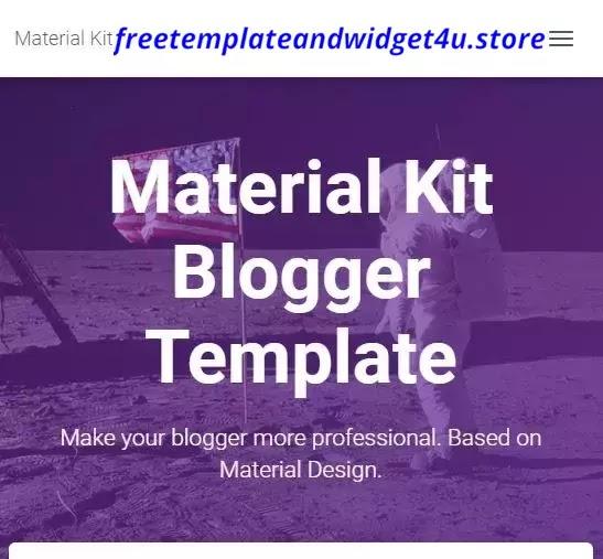 Material Kit Premium Blogger Template Free Download.