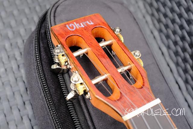 Uluru Sedera III tenor ukulele headstock