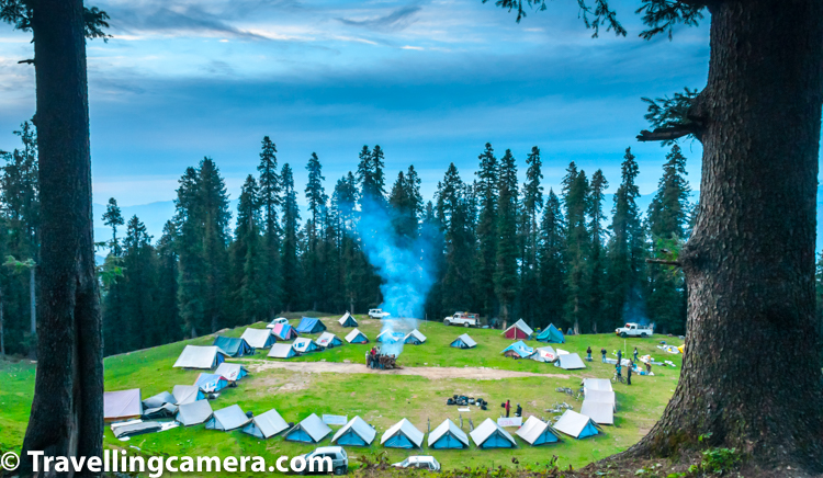 Above photograph shows another special camping site of MTB Himalaya - Dhomri ground near Narkanda. This is the place which is used for skiing during winters. Due to this skiing ground there are some local kids who have made their name in the world of Skiing globally. And look at the layout and surrounding. Who wouldn't want to spend a night at such location. This was last night before we all reach back in Shimla for conclusion. Surbhit & Jimsee were partners to have a good evening at this place. 3 of us sung lot of songs - Surbhit sung a few Rajasthani folks song, Jimsee sung some Mangolian songs and I attempted Himachali folks songs. All of us were enjoying but also thinking why that was last night of MBT Himalaya.