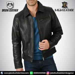 Jual Jaket Kulit Asli Garut Pria Domba Original Brida Leather B78 | WA 08813430588
