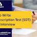 How to write Self Description Test (SDT) in SSB Interview