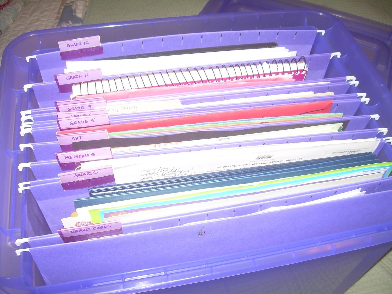 Cranberry Corner: Organizing Children's Schoolwork