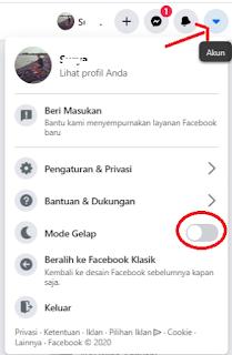 Cara Mengaktifkan Dark Mode Facebook Terbaru