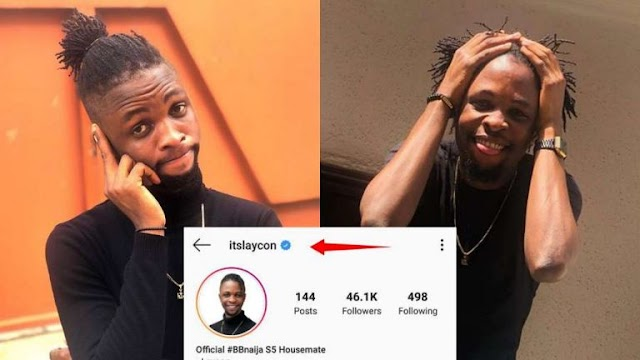 BBNaija 2020 Housemates Laycon becomes the first verified Lockdown Housemate on Instagram