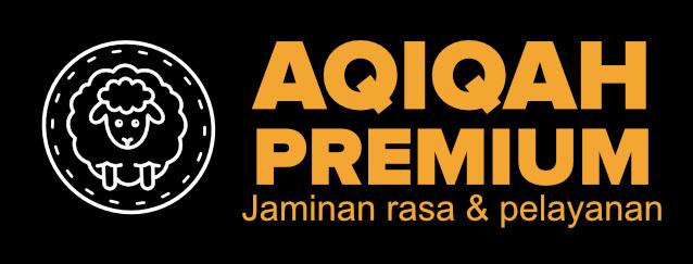 Logo aqiqah premium jaminan rasa dan pelayanan