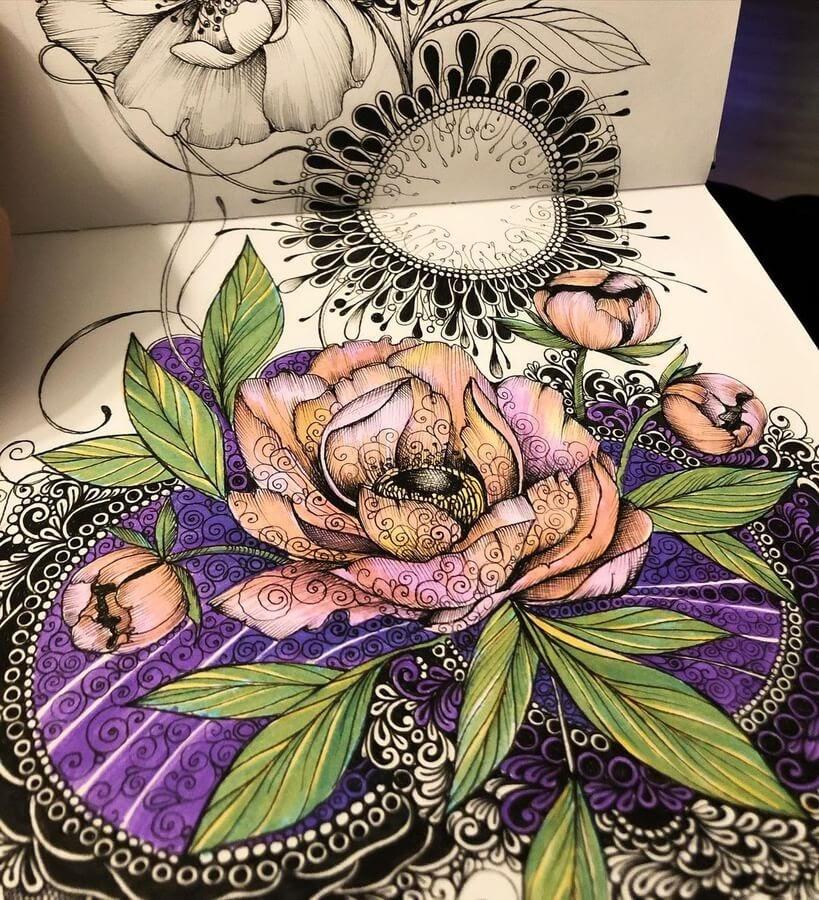 02-Purple-and-orange-flowers-sinArt-www-designstack-co