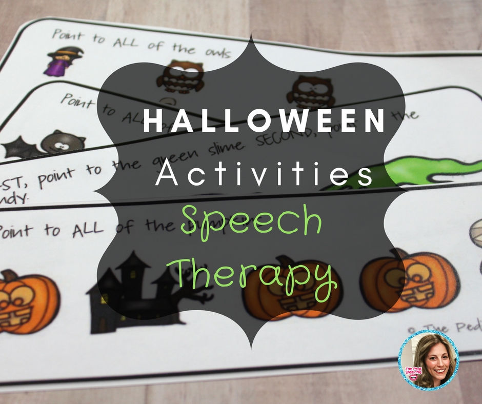 halloween speech Halloween activities for speech and language halloween is almost here and  children everywhere are getting excited about costumes and.